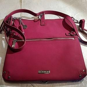 Joy Mangano red leather handbag